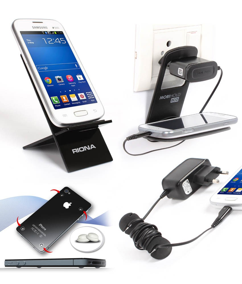Riona Mobile Holder A2 Black, Hanger Stand